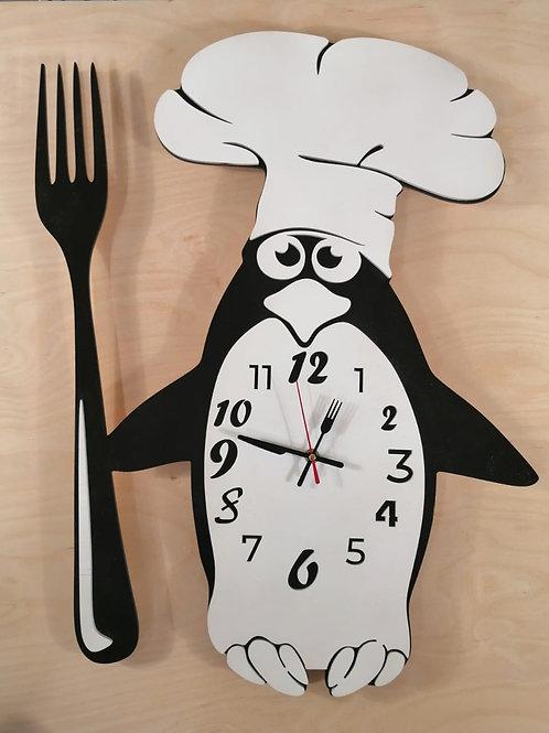 "Часы ""Пингвин поварёнок"""