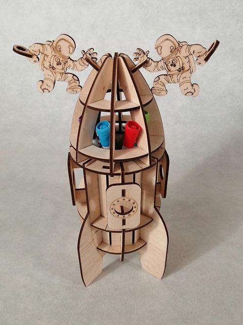 Конструктор-карандашница Космический корабль