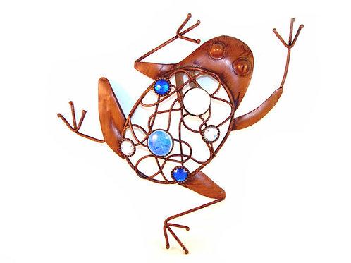 Настенный металлический декор «Лягушка»