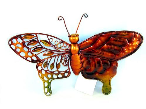 Металлический настенный декор «Бабочка Узоры природы»