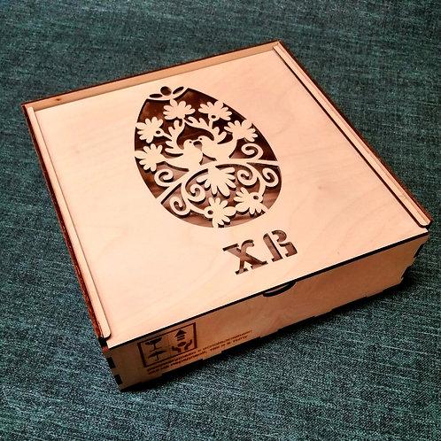 Коробка Пасхальная с выдвигающейся крышкой.