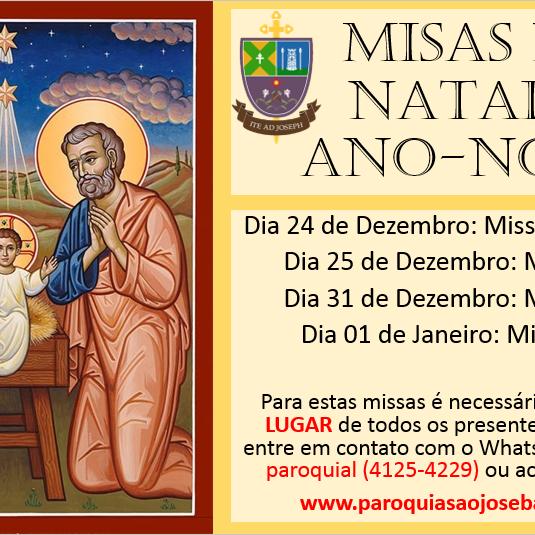 Missa de Ano Novo 01 de Janeiro 10h