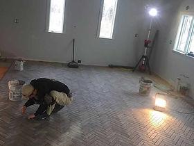Kitchen Floor Tile Work