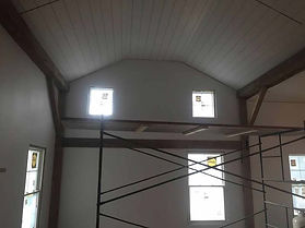 Exposed Beams of the Original House before Two Story Addition