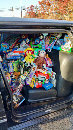 Toys inside limo