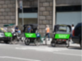 Pedicab Advertising Service Company New York City Pedicab Campaigns Advertise business brand NYC Pedicab. NYC Ad space available Experiential Marketing Events  Bicycle Ads NYC New York City Bike Avertising