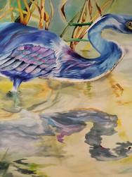 GWinters - Reflection 40x30 Dye on Silk.