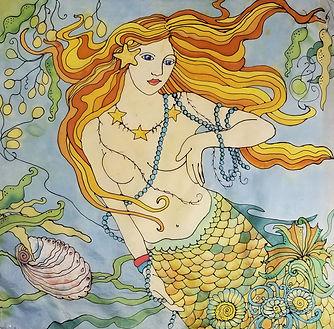 GWinters - Abalone Mermaid 22x22 Dye on