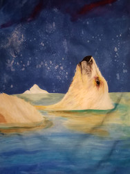 GWinters - Aurora Bear 26x40 Dye on Silk