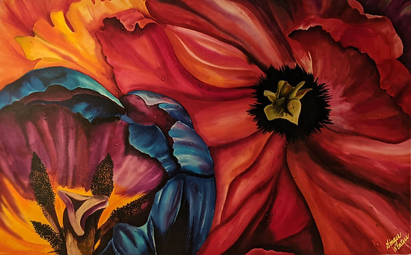 GWinters - Diegos Flowers 45x30 Dye on S
