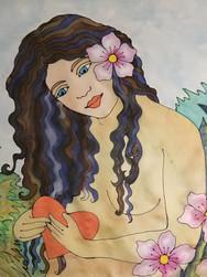 GWinters - Mermaid Heart 22x22 Dye on Si