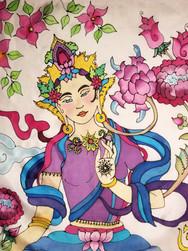 GWinters - Thai Goddess 22x22 Dye on Sil