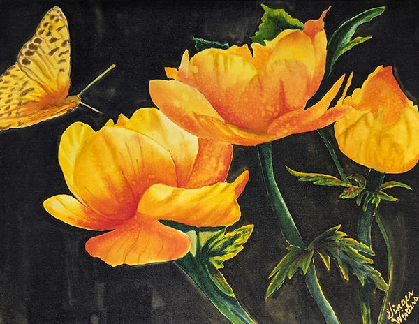 GWinters - Yellow Garden 14x11 Dye on Si