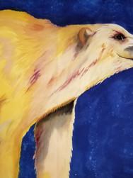 GWinters - Golden Bear 26x40 Dye on Silk