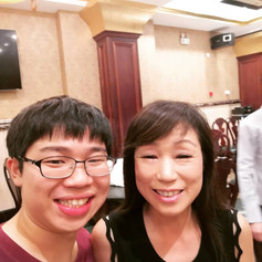 Post concert with Unsuk Chin