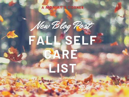 Fall Self Care List