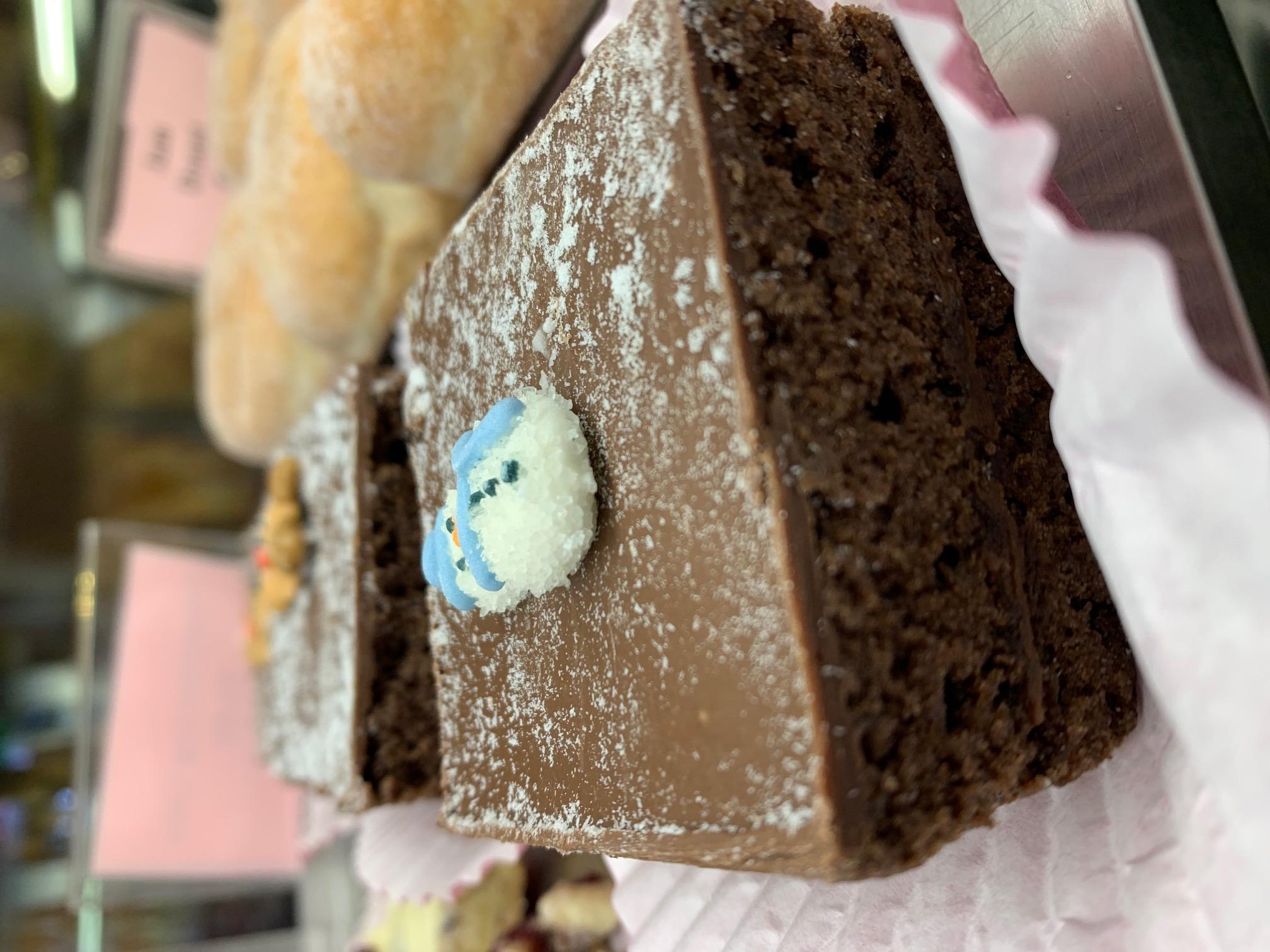 xmas shop - chocolate log cake