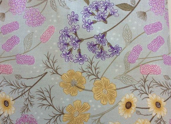 Fabrics - Garden Floral on Linen