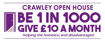 CRAWLEY OPEN HOUSE BE 1 IN 1000 LOGO 201