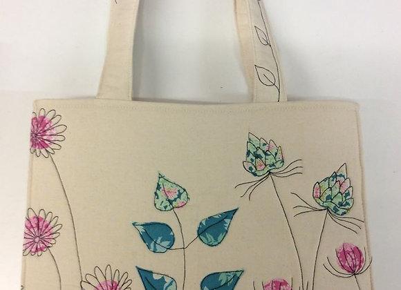Home Sewing Kit - Flower Garden Tote Bag Kit