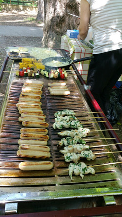 Outdoor catering BBQ