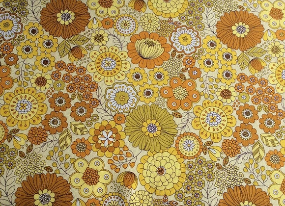 Fabrics - Flower Child, Far Out Floral Yellow