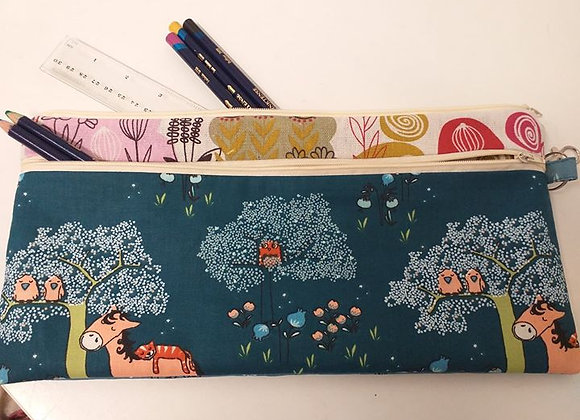 Home Sewing Kit - Two Zip Pencil Case Kit