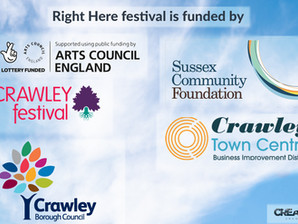 Crawley Town Centre BID celebrates the success of the'Right Here' Online Festival