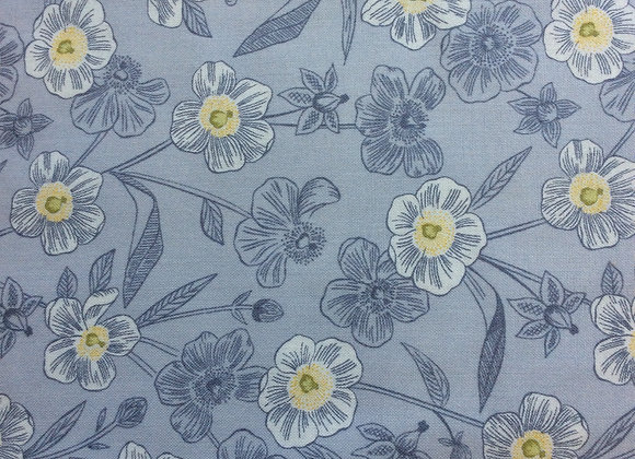 Fabrics - Rambling Floral on Lightest Grey