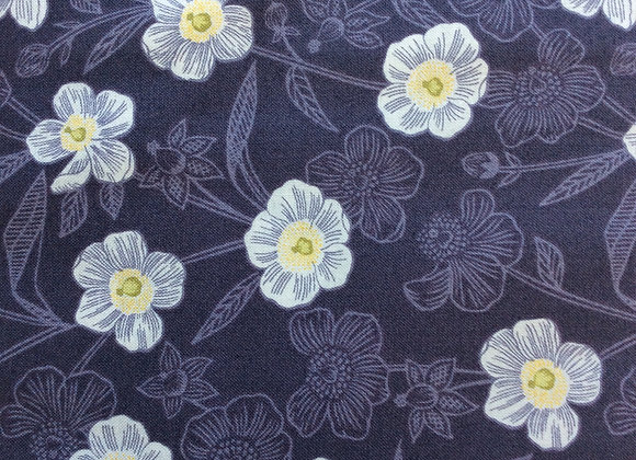 Fabrics - Rambling Floral on Dark