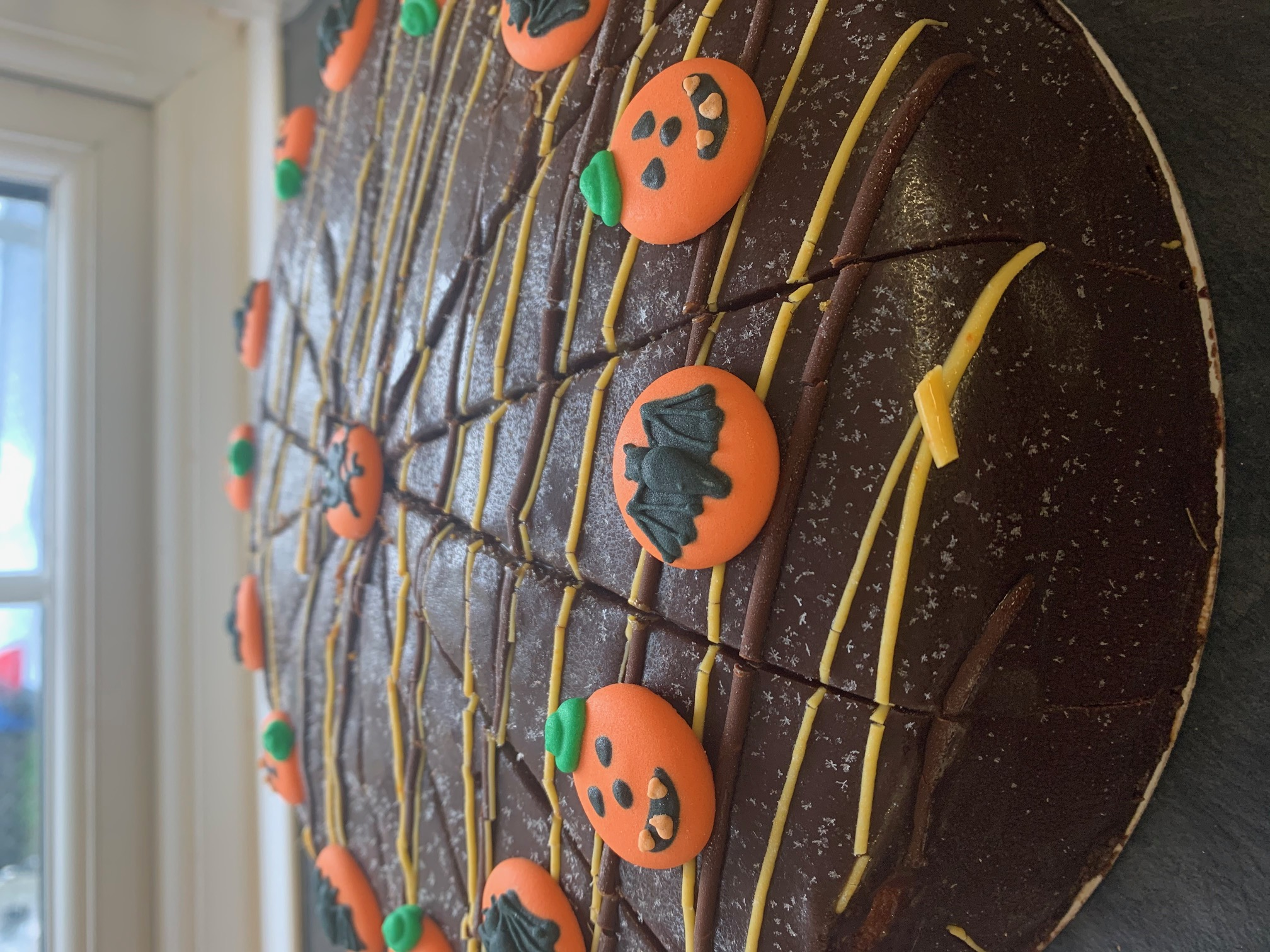 halloween chocolate orange cake