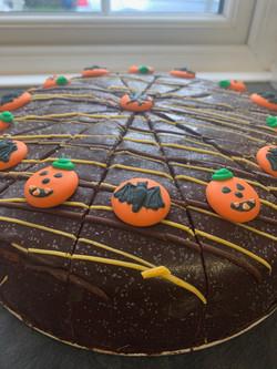 halloween chocolate orange cake