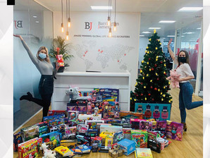 Barrington James Toy Appeal for Salvation Army this Christmas