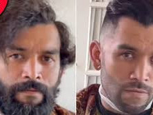 Homeless man unrecognisable after kind barber gives him a free haircut