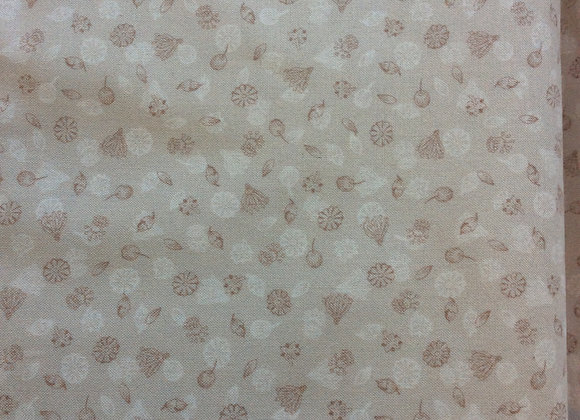 Fabrics - Garden Seeds on Dark Cream
