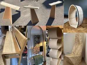 Crawley College carpentry student shows off creative crafts