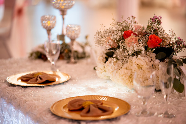 Gold Sweetheart Table