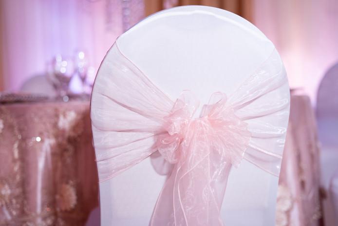 Blush Pink Organza Bow