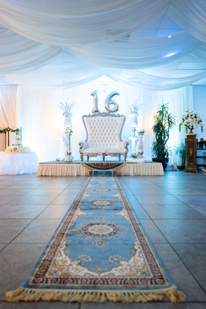 Stage Setup for Baby Blue Sweet 16