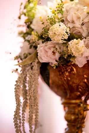 Gold Vase, Flower Arrangement