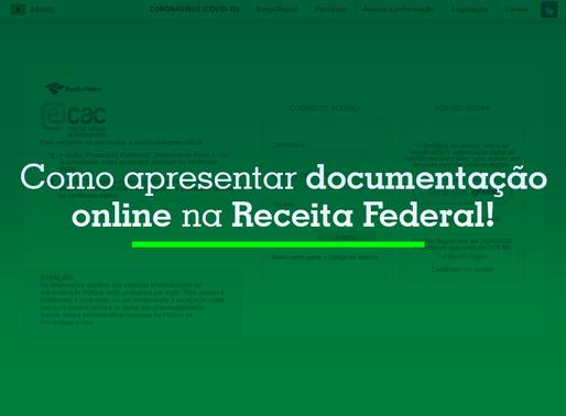 Como apresentar documentação online na Receita Federal
