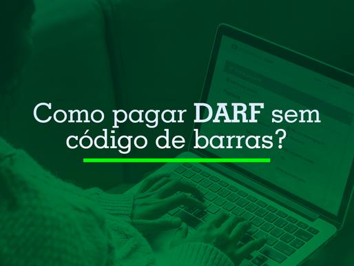 Como pagar DARF sem código de barras?