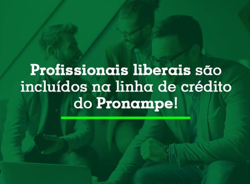 Profissionais liberais são incluídos na linha de crédito do Pronampe!