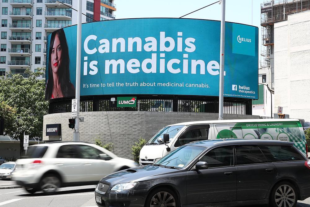 Katy Thomas Blogger Cannabis is Medicine Helius Billboard Campaign Medical Marijuana Auckland New Zealand
