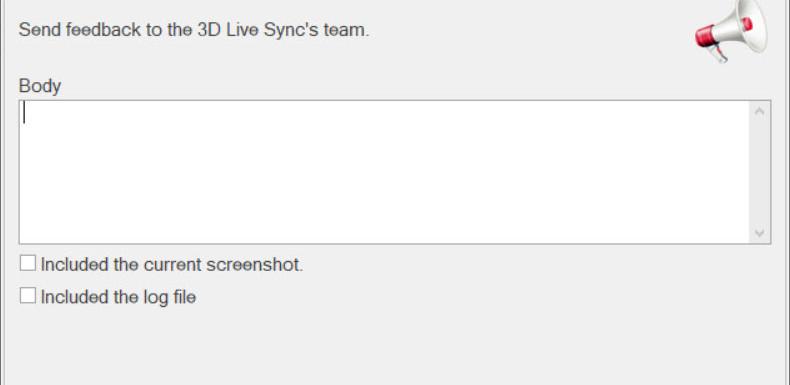 3DLiveSync - Built in feedback option.jp
