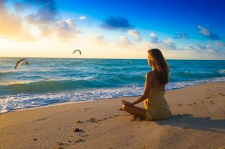 Get outside: meditation by the sea