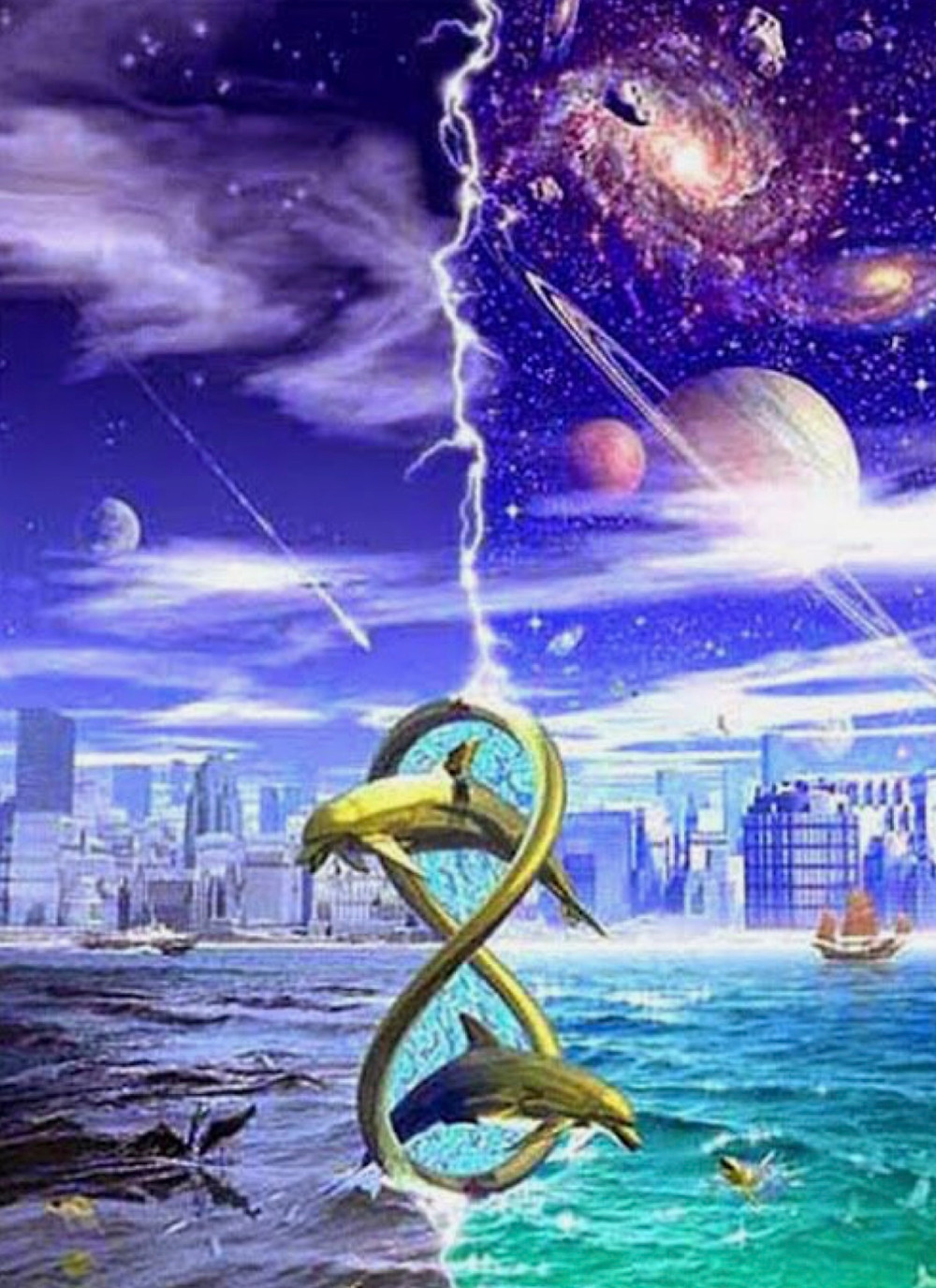 Sirius dolphins between earth and Sirius opening gates of infinity