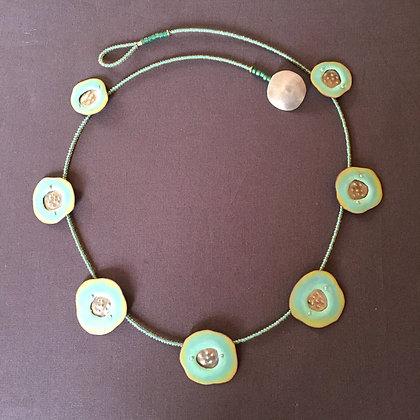 Enamel beaded necklace