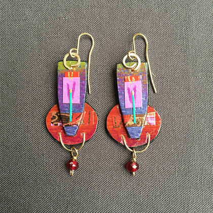 Collage earrings