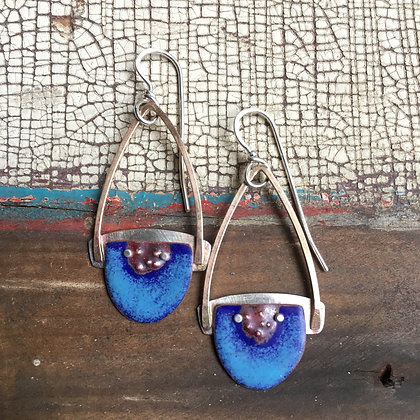 Enamel earrings
